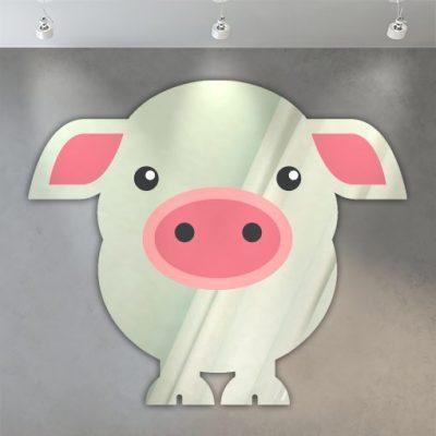 miroir enfant cochon